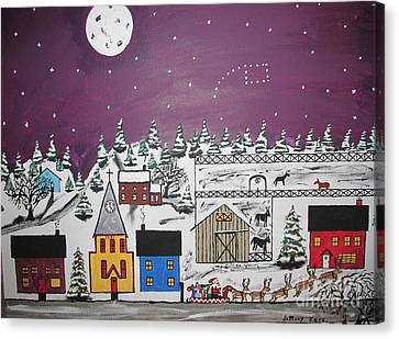 Santa Under The Little Dipper Canvas Print by Jeffrey Koss