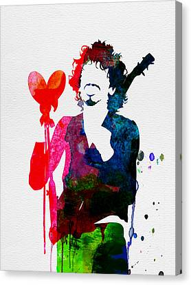 Santana Watercolor Canvas Print by Naxart Studio