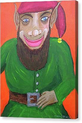 Santa's Happy Elf Canvas Print by Gordon Wendling