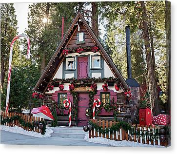 Canvas Print featuring the photograph Santa's House by Eddie Yerkish