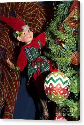 Santas Little Helper In Petaluma California Usa Dsc3767 Canvas Print by Wingsdomain Art and Photography