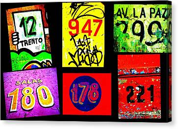 Santiago Street Numbers Canvas Print by Funkpix Photo Hunter