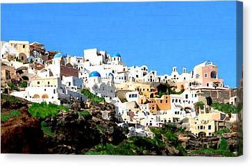 Santini Island Canvas Print by Bruce Nutting