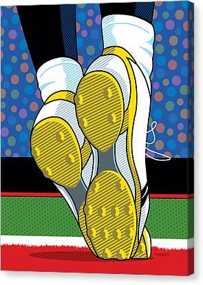 Santonio Holmes Toe Tap Canvas Print by Ron Magnes