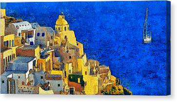 Santorini Canvas Print by George Rossidis