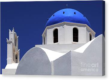Canvas Print featuring the photograph Santorini Greece Architectual Line 2 by Bob Christopher