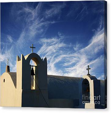 Canvas Print featuring the photograph Santorini Greece Architectual Line 3 by Bob Christopher