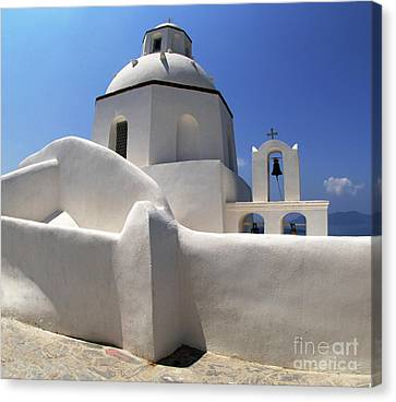 Santorini Greece Architectual Line 4 Canvas Print by Bob Christopher