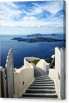 Cyclades Canvas Print - Santorini by HD Connelly