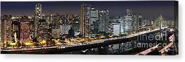 Sao Paulo Iconic Skyline - Cable-stayed Bridge  Canvas Print