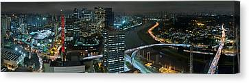 Sao Paulo Skyline Modern Corporate Districts Brooklin Morumbi Chacara Santo Antonio Canvas Print