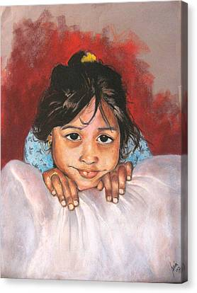 Saoni Canvas Print by Yxia Olivares
