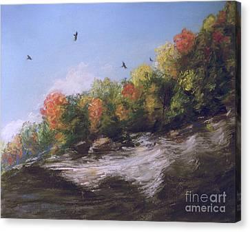 Soaring Over The North Rim, Autumn Canvas Print