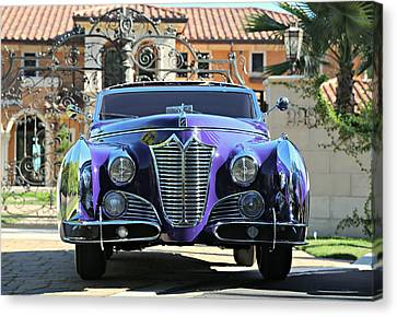 Saoutchik Cadillac At The Gate Canvas Print by Steve Natale
