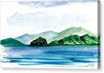 Sapphire Bay Canvas Print