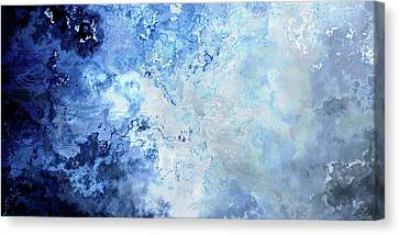 Abstract Art On Canvas Print - Sapphire Dream - Custom Version 2 - Abstract Art by Jaison Cianelli