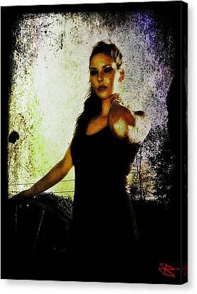 Canvas Print featuring the digital art Sarah 1 by Mark Baranowski