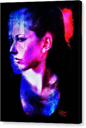 Canvas Print featuring the digital art Sarah 2 by Mark Baranowski