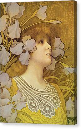 Sarah Bernhardt Canvas Print by Paul Berthon