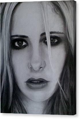 Sarah Michelle Canvas Print by Brendan SMITH