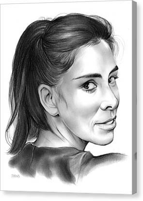 Sarah Silverman Canvas Print by Greg Joens