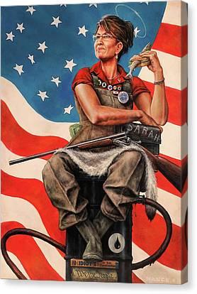 Tea Party Canvas Print - Sarah The Savior by Dan  Nance