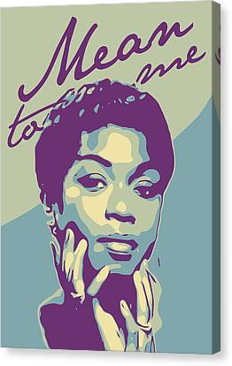 Sarah Vaughan Canvas Print by Greatom London