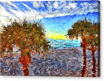 Canvas Print featuring the photograph Sarasota Beach Florida by Joan Reese
