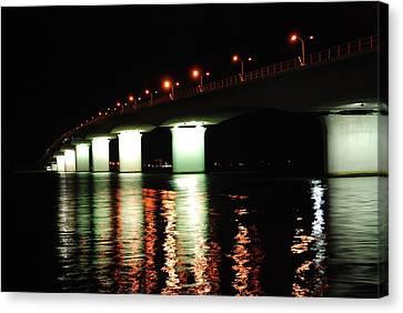 Sarasota Longboat Key Bridge Canvas Print by Amanda Vouglas