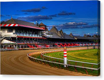 Dirt Canvas Print - Saratoga Race Track by Don Nieman