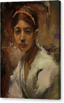 Sargent Study Number 1 Capri Girl Canvas Print by Brian Kardell