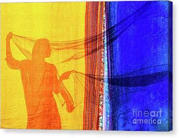 Sari Girl Canvas Print by Tim Gainey