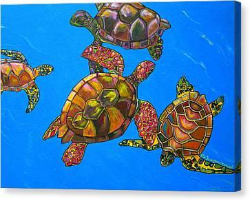 Sarrah's Sea Turtles Canvas Print by Patti Schermerhorn