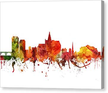 Saskatoon Cityscape 04 Canvas Print by Aged Pixel