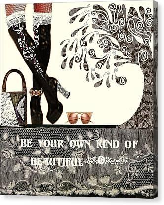 Sassy Boots  II Canvas Print by Jenny Elaine