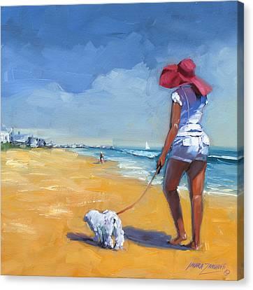 Sassy Three Canvas Print by Laura Lee Zanghetti
