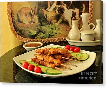 Satay Chicken Canvas Print