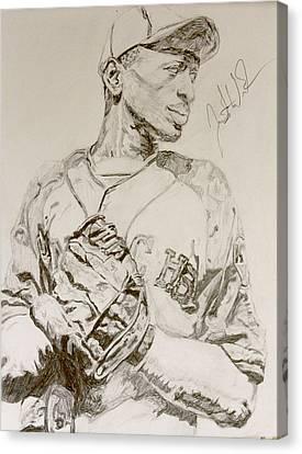 Satchel Paige Poise Canvas Print