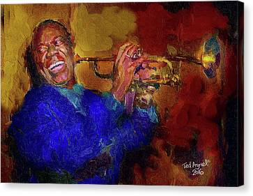 Satchmo Canvas Print by Ted Azriel