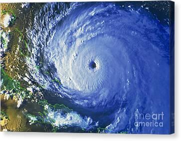 Satellite Image Of Hurricane Floyd Canvas Print