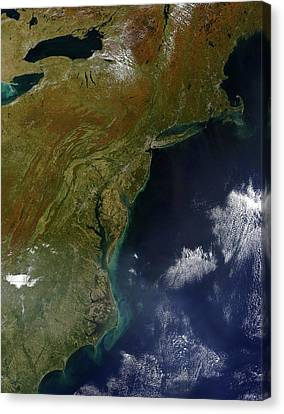 Satellite View Of The United States Canvas Print