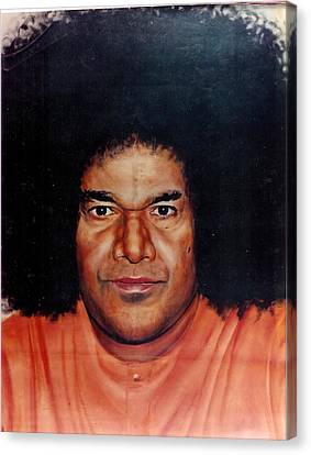 Sathya Sai Baba- Full Face Canvas Print by Anne Provost