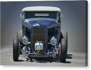 Canvas Print featuring the photograph Satin Blue Deuce by Bill Dutting