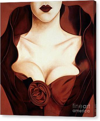 Satin Rose Canvas Print by Lawrence Supino