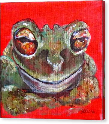 Satisfied Froggy  Canvas Print