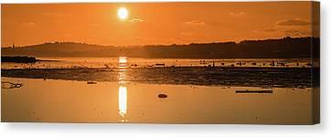 Saturday Morning Along The Estuary Pano Canvas Print