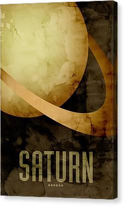 Saturn Canvas Print by Michael Tompsett