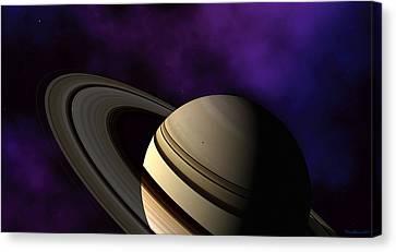 Saturn Rings Close-up Canvas Print by David Robinson