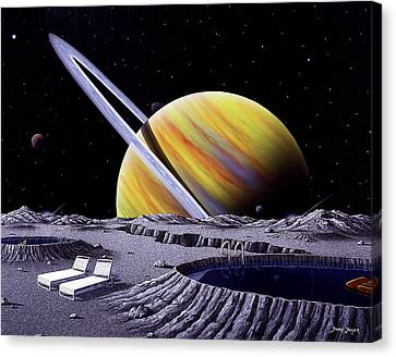 Saturn Spa Canvas Print by Snake Jagger