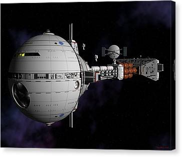 Saturn Spaceship Uss Cumberland Canvas Print by David Robinson